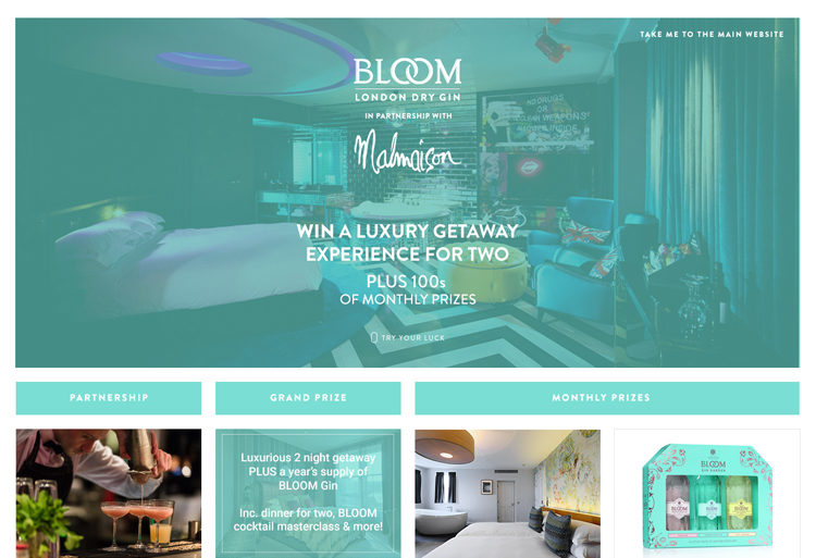 promotional digital services for Bloom Gin