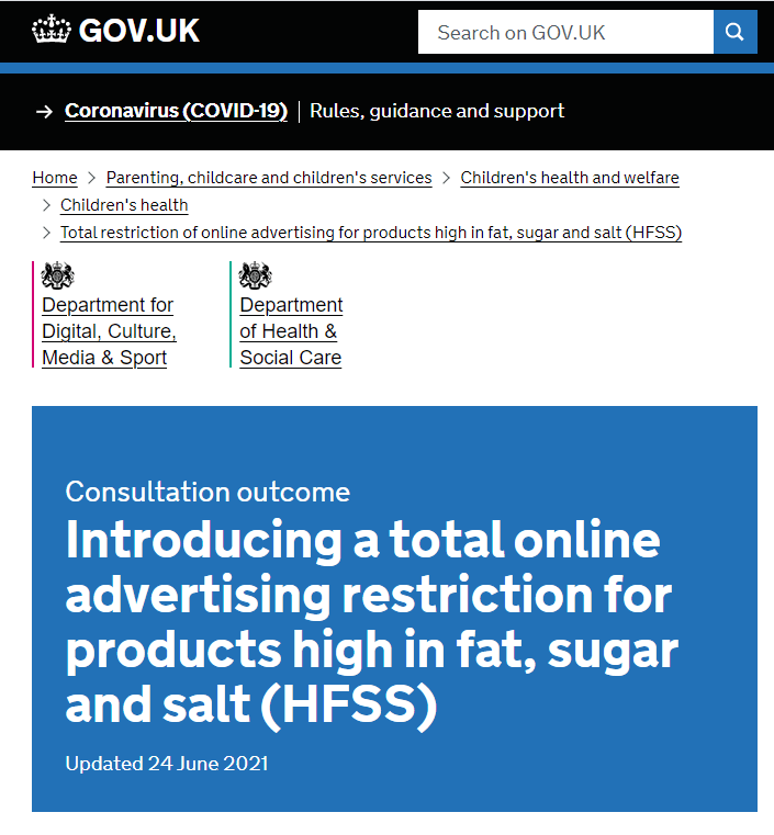 hfss advertising regulations 2022